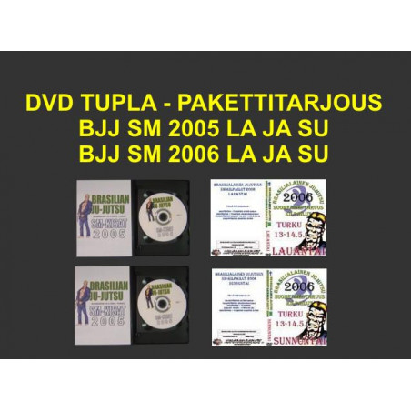 DVD DOUBLE-SPECIAL DEAL BJJ SM 2005 AND 2006 SA AND SU