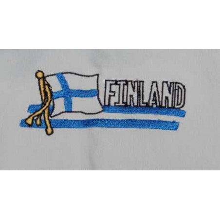 Embroidery Finnish Flag