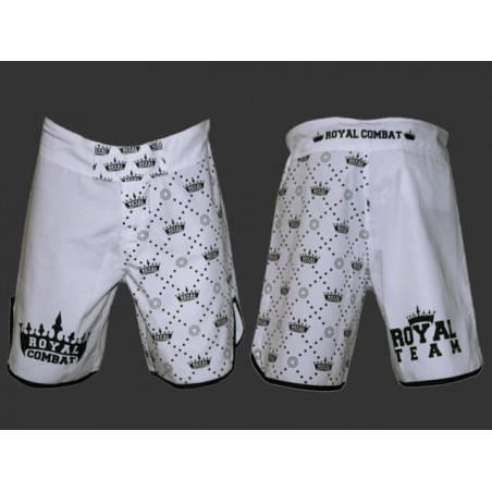 Royal Combat Fight shorts Rip Stop - White
